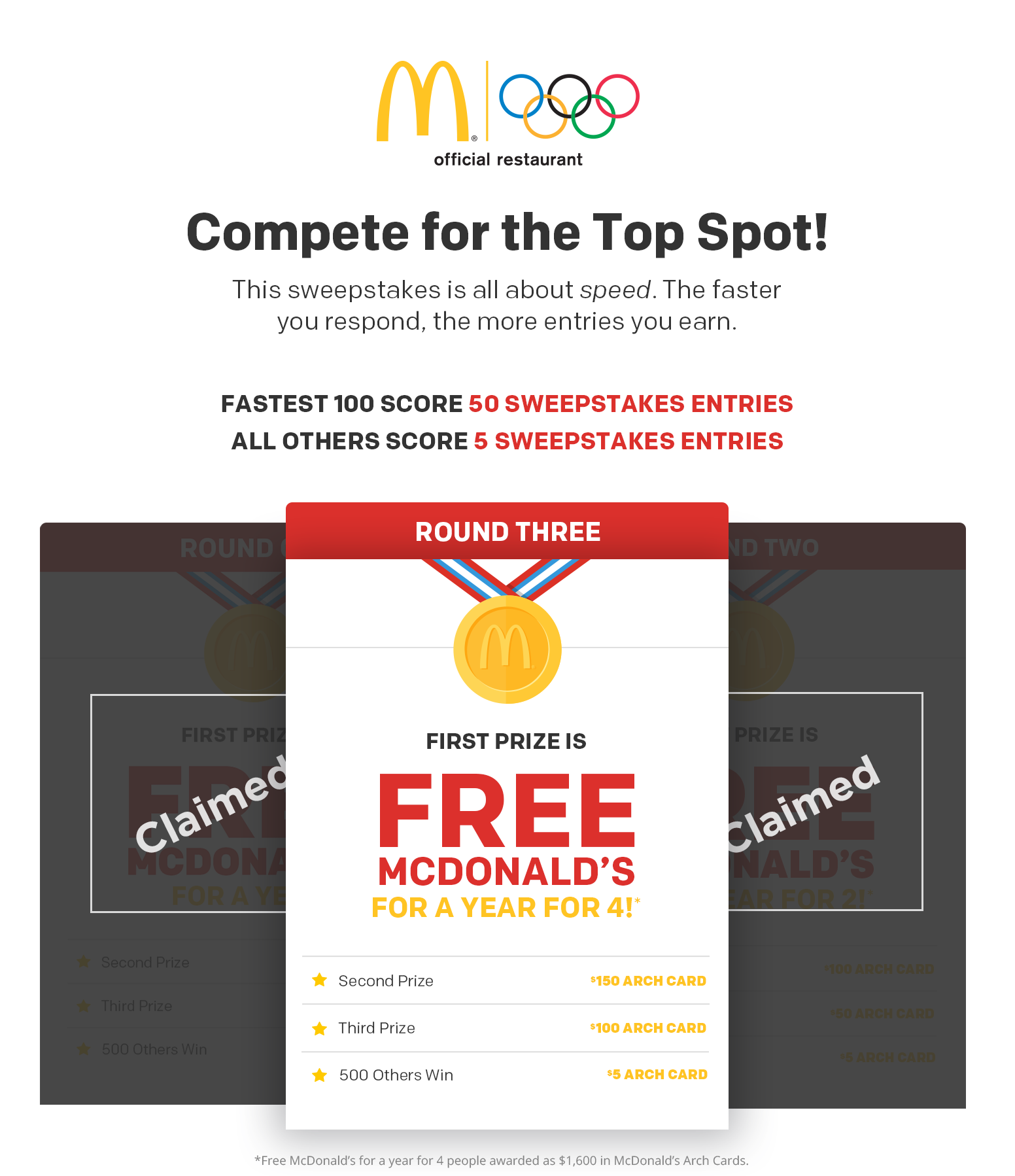McDonald`s Giveaway with Quick...