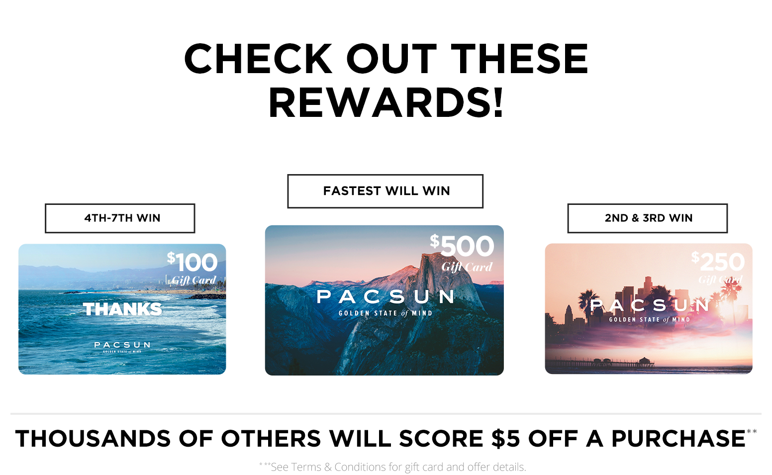 PacSun Gift Card Giveaway!
