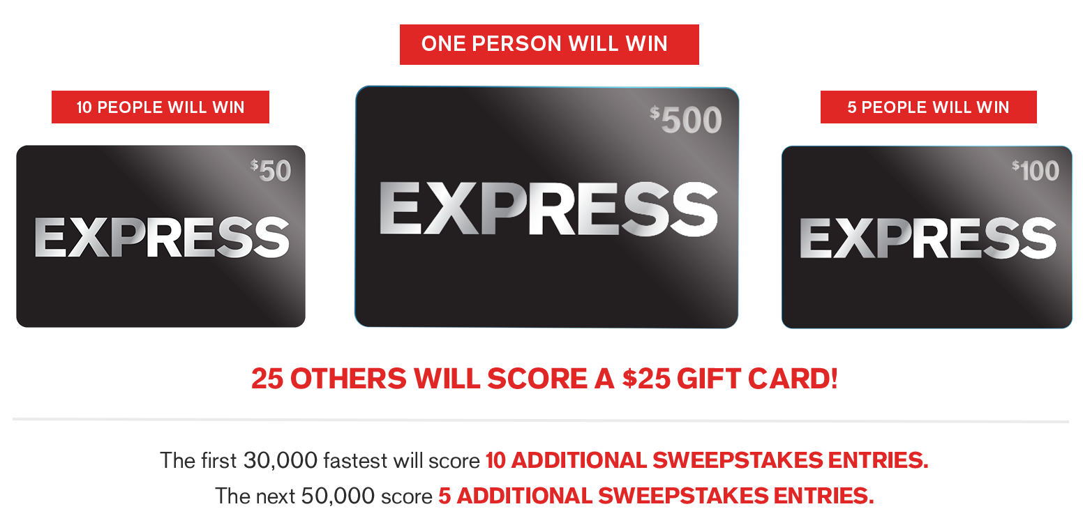 Express Gift Card Giveaway...