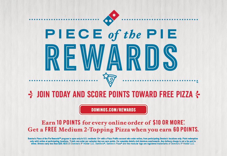 Join Piece of the Pie Rewards