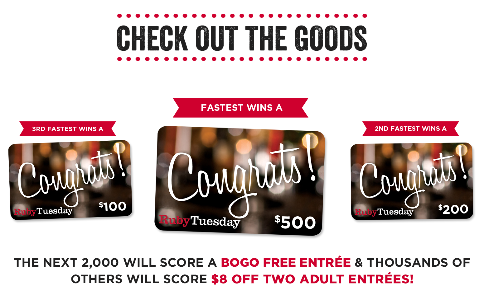 FREE Ruby Tuesday Surprise!