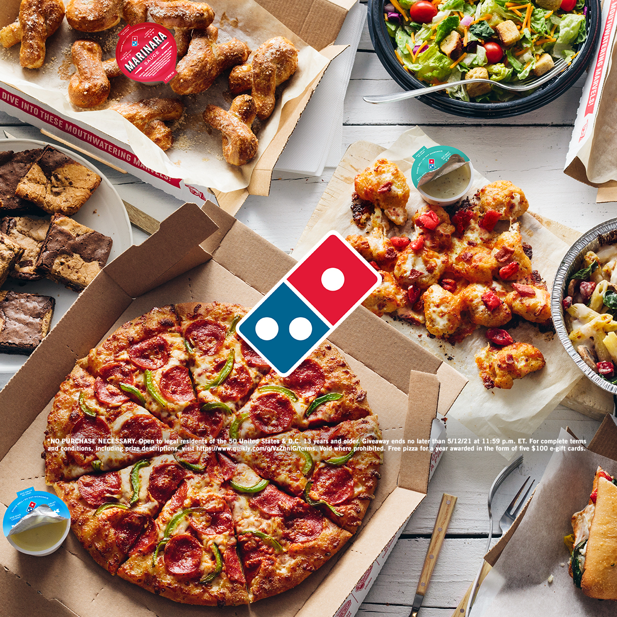 Domino's is giving away free pizza for a YEAR soon! 🍕