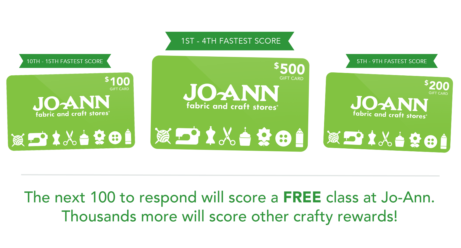 FREE Jo-Ann Gift Card Giveaway...